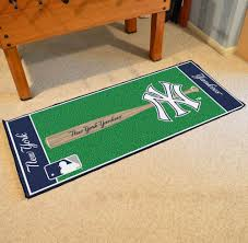 fascinating yankees rug new york soft area with non slip backing 4 x 2 6