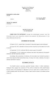 Sample Of Memoranda Trial Memorandum