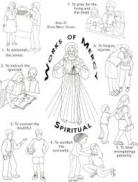works of mercy worksheet spiritual and corporal works of mercy worksheet corporal works of