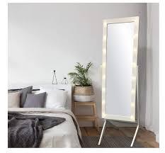lighted floor mirror bedroom wood full