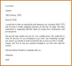 Introductory Letter Company Introduction Mail To Customer Introductory Letter Rm Travels