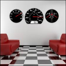 Peel And Stick Wall Decor Auto Car Dashboard Gauges Wall Decal Removable Auto Gauge