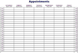 Weekly Appointment Calendar Excel Printable Weekly Appointment Calendar Planner Template Excel