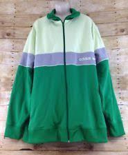 adidas 4xl. adidas mens 4xl green 3 stripes brand full zip cotton blend track jacket 4xl ,