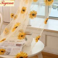 Yellow Curtains For Living Room Compare Prices On Sunflower Yellow Curtains Online Shopping Buy