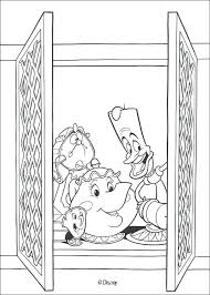 Beauty Beast Coloring Pages And The Free For A La Moonoon