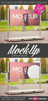 Free Signage Template Free Outdoor Signage Mock Up In Psd Free Psd Templates