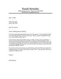 Teaching Cover Letters Teaching Cover Letter With No Experience
