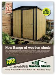 Small Picture Garys Garden Sheds ads Branding Graphic Design Consultants