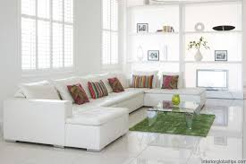 white furniture decorating living room. Decorations : Lovely Living Room Decorating Ideas For Small Apartments With L Shape Sectional Sofa Also Square Glass Coffee Table Plus Decorative Pillows White Furniture