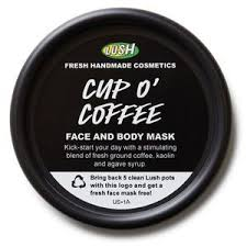 lush cup o coffee face body mask