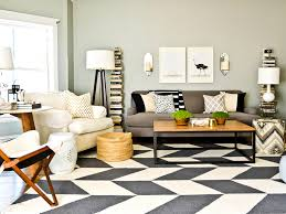 stark rugs Living Room Contemporary with area rug black and white
