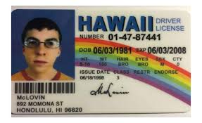 Drivers Mclovin com Games Movie Reproduction - Novelty Superbad Amazon License Prop Hawaii Toys amp;