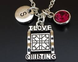 i love quilting necklace quilting jewelry quilting pendant quilting charm quilting jewelry quilting gift quilter necklace quilter gift