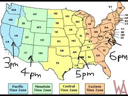 Good Time Zone Map Of The Usa With Time Different