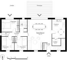 Plan De Maison Plain Pied 3 Chambres Avec Sous Sol