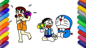 It generally has less weird miscolorations than artistic, but it's also less colorful in general. Draw And Color Doraemon Cartoon When Shizuka Was Angry