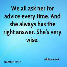 Millie Johnson Quotes QuoteHD Extraordinary Very Wise Quotes
