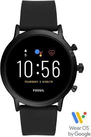 Fossil Gen 5 <b>Smartwatch</b> 44mm Stainless Steel Black with Black ...