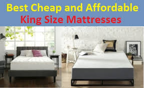 Mattress king Thin American Freight Top 15 Best Cheap And Affordable King Size Mattresses In 2019