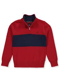 Nautica Boys Trimmed Contrast Sweater