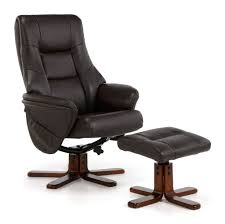 Leather Swivel Chairs For Living Room Furniture Espresso Leather Swivel Recliner Chair And Ottoman