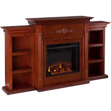 harper blvd dublin 70 inch mahogany bookcase electric fireplace with remote com