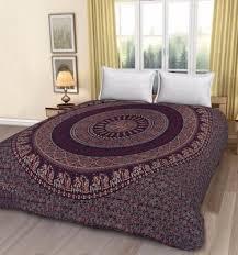 bed sheets printed. Fine Printed Circular Block Print Throughout Bed Sheets Printed