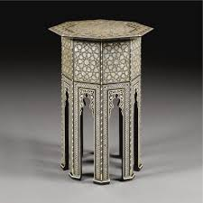 Empire Coffee Table An Ottoman Mother Of Pearl And Ebony Inlaid Octagonal Coffee Table