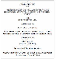 Project Front Page Sample Mibm Guidelines For Project Report