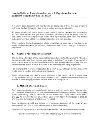 Interview Introduction Essay Introduction Example How To Write An Essay Introduction