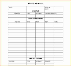 Workout Program Template Template Business