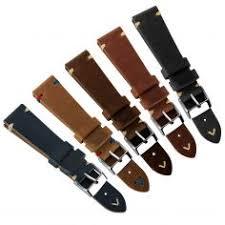 onthelevel handmade suede watch straps vintage genuine leather watchband calfskin black straps 18mm 20mm 22mm