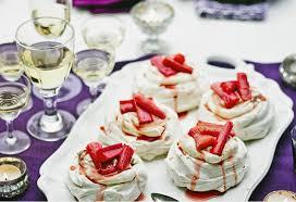 Individual rhubarb ripple pavlovas Recipe   New Idea Food