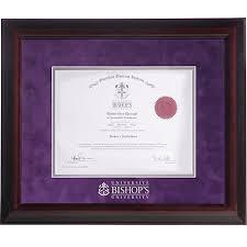 bishop s university suede mat in x in executive diploma  milburn universal design bishop s university suede mat 15 in x 18 in executive diploma frame