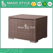 china patio rattan side table with