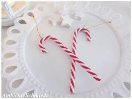 2er Set Anhänger Weihnachtsbaum Zuckerstange Christbaumschmuck Rot Weiß Deko Weihnachten