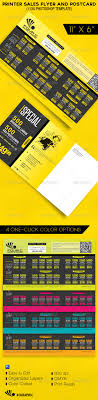 printer flyer postcard template by cgraphic graphicriver printer flyer postcard template commerce flyers