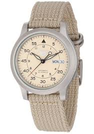 cheap seiko watch strap seiko watch strap deals on line at get quotations · seiko men s snk803 seiko 5 automatic watch beige canvas strap
