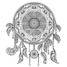 Fototapeta Lapač Snů S Ornamentem Tetování Koncepce Pro Poutač Karty