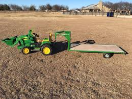 just like dad s gooseneck flatbed trailer 5ft long by 2ft 6in wide deck will attach to power wheels trucks tractors and utv s kids trailer made by crown
