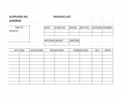 Blank Packing Slip Template List Commercial Invoice And