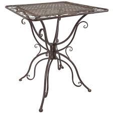 titan outdoor antique coffee end table porch patio garden deck decor rust rustic
