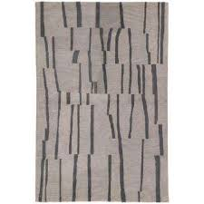 fusion light gray 5 ft x 7 ft 6 in stripe rectangle area
