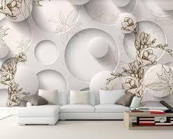 modern luxury 3d wallpaper circle design for living room