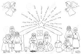 Explore our vast collection of coloring pages. Hand Drawn Coloring Pages For Kids And Adult A Christmas Nativity Royalty Free Cliparts Vectors And Stock Illustration Image 143770633