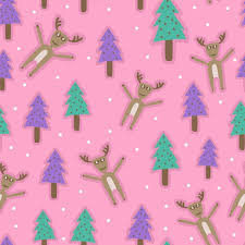Cute Reindeer Pattern Background For Kids Background Pattern