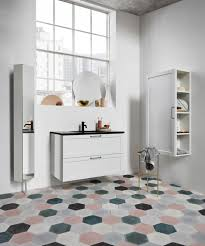 White floor tiles bathroom Ceramic Modern Bathroom With Mix And Match Hexagonal Ceramic Floor Tiles Nonagonstyle Nonagonstyle Ceramic Floor Tiles The Pros And Cons Nonagonstyle