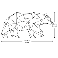 on geometric bear wall art with geometric polygon bear vinyl wall art decal