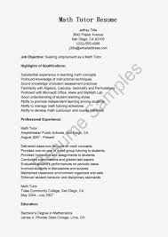 tutor on resume okl mindsprout co tutor on resume